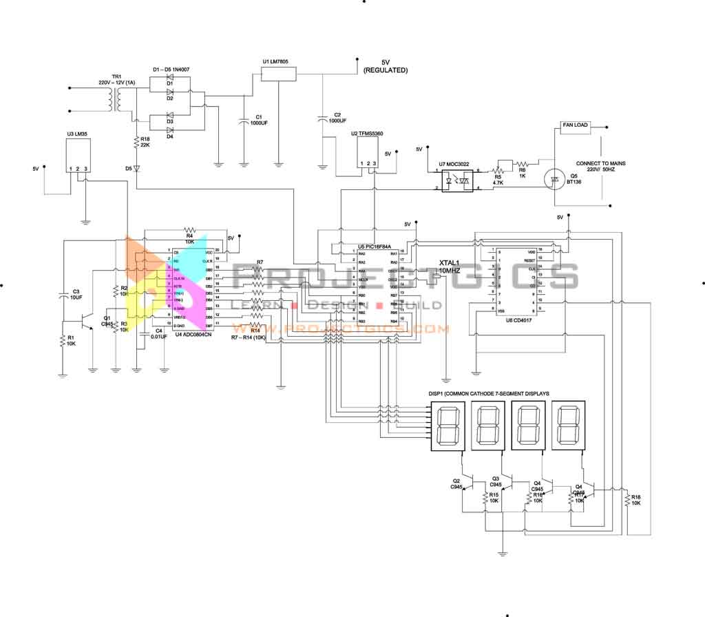 circuit-diagram-of-the-temperature-controlled-fan-with-remote-control-block-diagram-main-unit