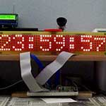 LED matrix digital clock with temperature display