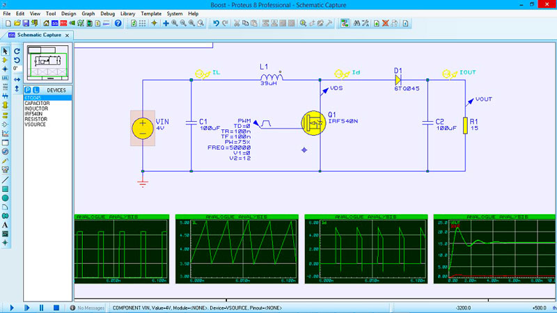 Proteus ISIS circuit simulation software